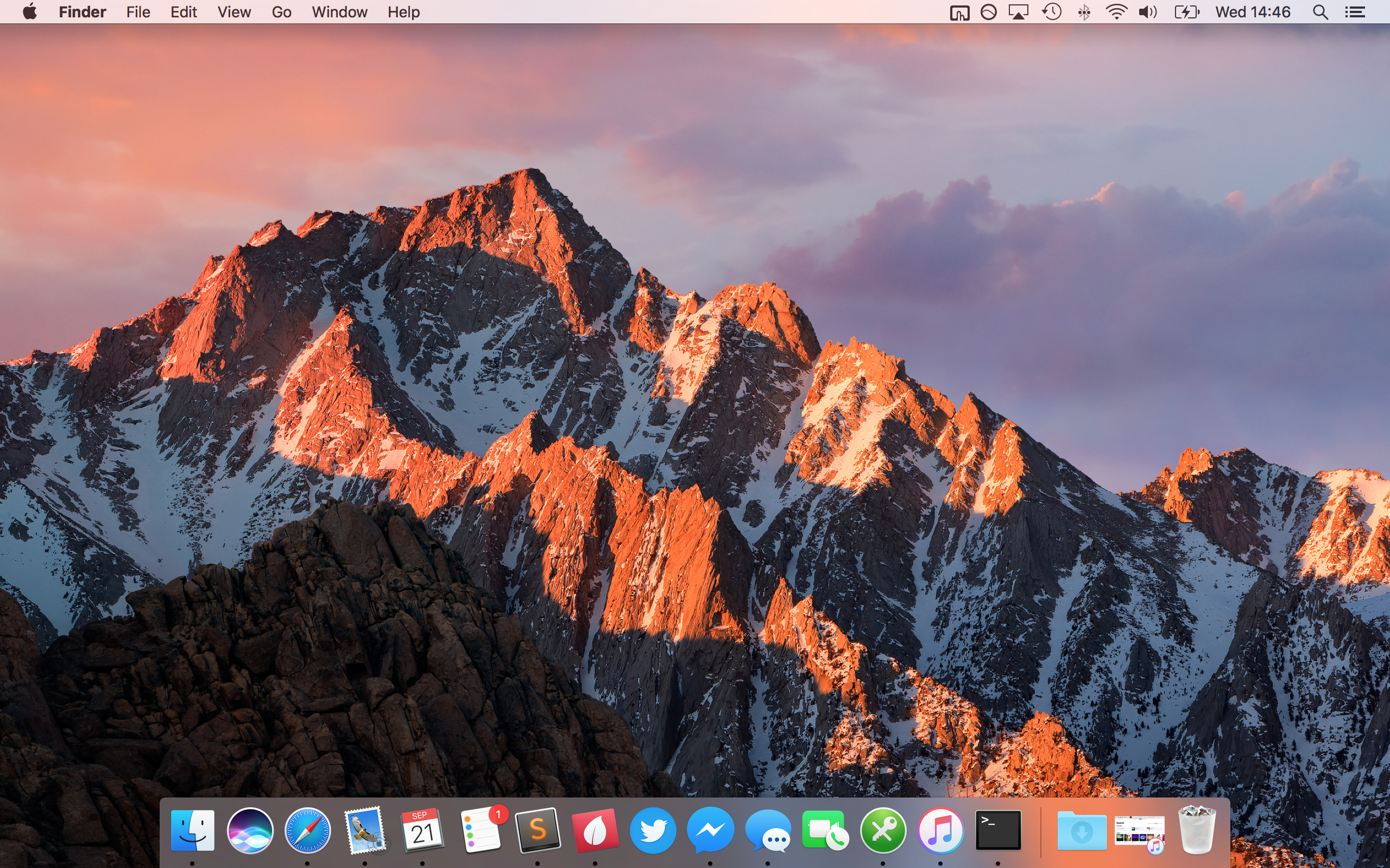 A screenshot of macOS Sierra